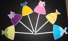Disney Princess Cupcake Toppers. $16.00, via Etsy.