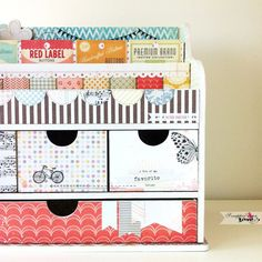 Altered Art Organizer - from ikea. I bet you could find something like this somewhere like target too Christmas Presents 2016, Desk Organization Diy, Ikea, Art Desk, Space Crafts, Organizer, Getting Organized, Altered Art, Furniture Decor