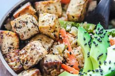 Herb and Lime Infused Baked Tofu