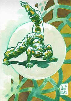 Encres : Capoeira - 162 [ #capoeira #ink #painting ] escorpio