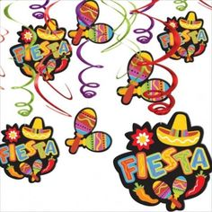 Cinco de Mayo Fiesta Hanging Swirl Decorations