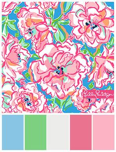 Lilly Pulitzer for Lee Jofa, Coordinating paint by General Paint #stylyze #findcoordinatingcolors
