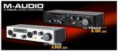 Постигнете професионален квалитет преку вашиот компјутер со двоканалните преносни аудио карти на M-AUDIO! M-TRACK & M-TRACK plus...