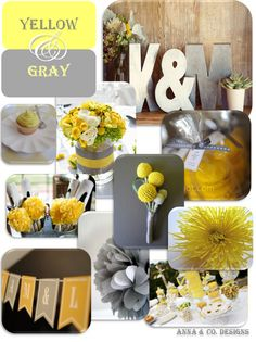 yellow  gray