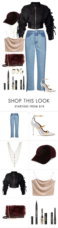 """""""Off Stage"""" by memevianti on Polyvore featuring Maje, Malone Souliers, Ettika, The Kooples, storets, Ted Baker, tarte, Noir Jewelry, StreetStyle and streetwear"""