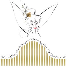 headboard wall decal | Removable Wall Decals - Tinker Bell Headboard Giant Wall Decal