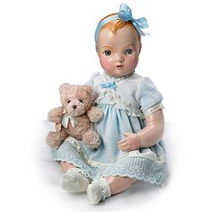 Mary Hand-Painted Vintage-Looking Vinyl Baby Doll - Realistic Baby Dolls
