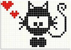 Kassimuser, kassi kudumismuster, cat pattern Mini Cross Stitch, Cross Stitch Charts, Cross Stitch Designs, Cross Stitch Embroidery, Cross Stitch Patterns, Knitting Charts, Baby Knitting, Knitting Patterns, Pixel Crochet Blanket