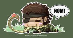 MGS3: Chibi Snake Eater by ShiroiNeko-sama.deviantart.com on @deviantART
