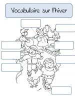 CP - VOCABULAIRE SUR L'HIVER Teaching Schools, Teaching Ideas, Fall Projects, Learn French, Craft Activities, Kids Learning, Grade 2, Math, School Stuff