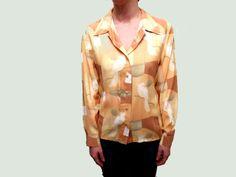 Farb- und Stilberatung mit www.farben-reich.com -  Sonnige, feminine Bluse mit Kakadu von Firlefänzchen auf DaWanda.com