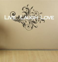 Wall Decal Sayings Live Laugh Love Wall Decal by luxeloft on Etsy, $19.00