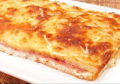 Pastel pan de molde queso y bacon