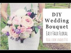 (18) HOW To MAKE A WEDDING BOUQUET  DIY Real Look Faux Floral Bouquet - YouTube