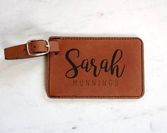 Check out our luggage tags selection for the very best in unique or custom, handmade pieces from our shops. Personalized Luggage Tags, Custom Luggage Tags, Tag Luggage, Suitcase Tags, Backpack Tags, Leather Luggage Tags, Travel Accessories, Travel Gifts, Gifts For Women