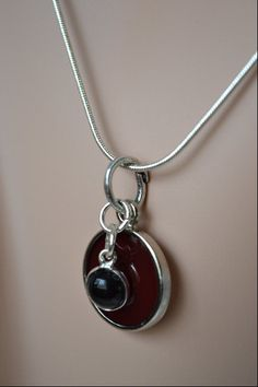 Cocktails at Ninedark red and Onyx pendant with by myartdelice, $18.95