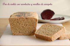 Pan de molde con remolacha y semillas de amapola » Recetas Thermomix | MisThermorecetas