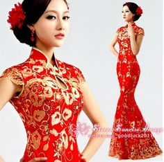 Cheongsam Formal Evening Prom Party Gown Wedding gown Bridesmaids dresses in Dresses | eBay