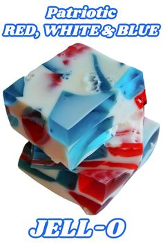 Holiday Drinks, Holiday Foods, Holiday Recipes, 4th July Food, Fourth Of July, Jello Recipes, Dessert Recipes, Desserts, Red White And Blue Jello Recipe