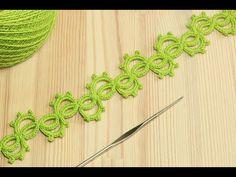(78) Вязание крючком ленточного ажурного кружева - crochet lace - YouTube