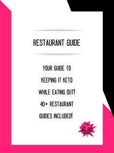 Keto restaurant guide with over 40 menus filled with keto friendly foods to choose from Keto Restaurant, Restaurant Guide, Menu, Foods, Menu Board Design, Food Food