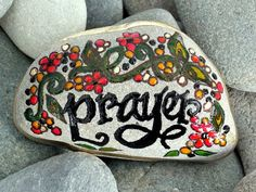 Prayer / Painted Rock / Sandi Pike Foundas / by LoveFromCapeCod, $24.00