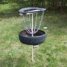 Disc Golf Basket...REDNECK!