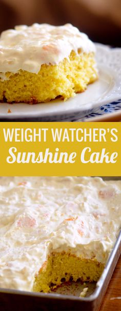 Weight Watcher's Pineapple Sunshine Cake - Recipe Diaries