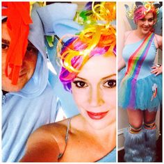 Pin for Later: Look Back at Last Year's Best Celebrity Halloween Costumes! Alyssa Milano in a My Little Pony Costume