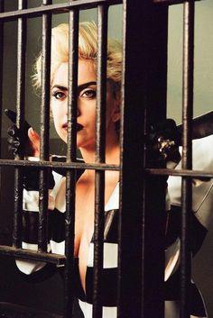 "ladvsgaga: "" "" Lady Gaga on the set of ""Telephone"" music video (2010). "" """