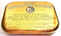 Vintage French medication tin box : Gargarisme de Luchon, by HamlinDesign, Kč300.00.