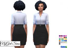 Double Belted Business Dress at NyGirl Sims • Sims 4 Updates