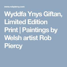 Wyddfa Ynys Giftan, Limited Edition Print   Paintings by Welsh artist Rob Piercy North Wales, Limited Edition Prints, Welsh, Giclee Print, Paintings, Artist, Welsh Language, Paint, Painting Art