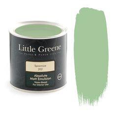 Little Greene Absolute Matt Emulsion - Spearmint - http://godecorating.co.uk/little-greene-absolute-matt-emulsion-spearmint/