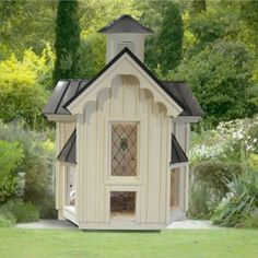 Gothic Church Chicken Coup Barrington Homes Cimarron Homes Donnette Golder, Designer. I need my chicken coop to look just like this! Fancy Chickens, Chickens Backyard, Custom Builders, Home Builders, Burbank Homes, Barrington Homes, Duck House, Hen House, Chicken Coup