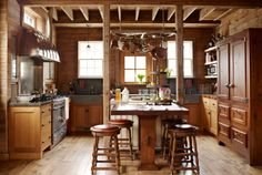 This stunning kitchen used to be a horse stable!