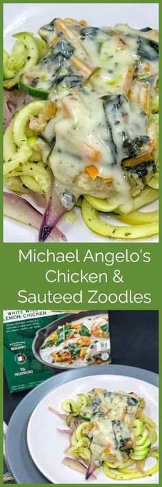 Make dinner easy and delicious with @michaelangelos Meal Starters found at @walmart. Add some fresh saut�ed zoodles, and you have a perfect weeknight dinner for two.  #kitchencrafteditalian #michaelangelos #collectivebias #ad
