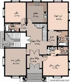 (www.stooob.com) House Layout Plans, Family House Plans, Dream House Plans, Small House Plans, House Layouts, Classic House Exterior, Classic House Design, Dream House Exterior, House Floor Design