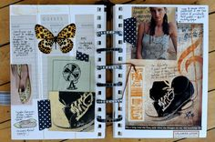 https://flic.kr/p/9YubYF | art journal | what an incredible art journal - take a close look at each page, you wouldn't want to miss any of the fabulous details!