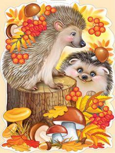 "Матеріал для лепбука на тему ""Осінь"" Chicken Painting, Baby Painting, Painting For Kids, Art For Kids, Hedgehog Art, Cute Hedgehog, Autumn Illustration, Cute Illustration, Garden Crafts For Kids"