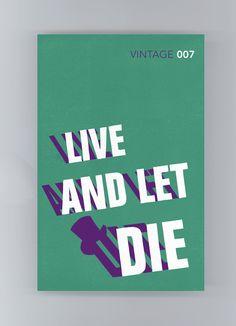 """Capa de James Jones para o livro """"Live and Let Die"""", da série de James Bond"""