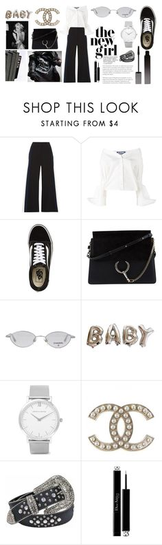 """""""WHO'S THE NEW GIRL?"""" by seetheotheroceans ❤ liked on Polyvore featuring Peter Pilotto, Jacquemus, Vans, Chloé, Chanel, Larsson & Jennings, Christian Dior and Serge Lutens"""