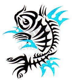 Tribal Koi Fish Tattoos | Tribal Koi Fish Tattoo – Bend of Japanese Tattoo and Tribal Tattoo ...