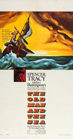 Directed by John Sturges, Henry King, Fred Zinnemann.  With Spencer Tracy, Felipe Pazos, Harry Bellaver, Don Diamond. An old Cuban fisherman's dry spell is broken when he hooks a gigantic fish that drags him out to sea. Based on Ernest Hemingway's story.