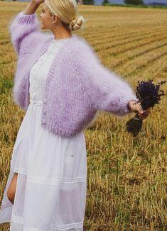 Knitwear Fashion, Cozy Fashion, Knit Fashion, Fashion Outfits, Fashion Trends, Mohair Cardigan, Gros Pull Mohair, Knit Vest Pattern, Vintage Knitting