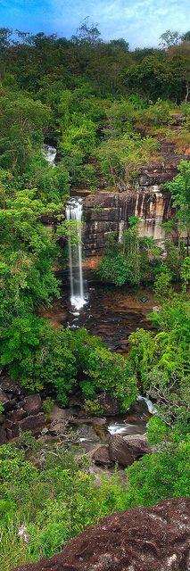 Soi Sawan Waterfall or necklace, Pha Taem National Park, Thailand