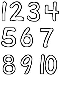 Number Stencils   Printable Templates & Coloring Pages ...