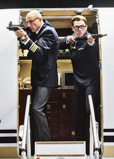 Kingsman Merlin and Eggsy