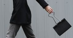 A Whimsical Bag That Looks Like A Giant Binder Clip - DesignTAXI.com