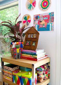 Styled shelf full of